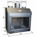 PILIS-KONV légfűtő, konvekciós, rusztikus kandallótűztér