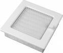 Fehér színű zsalus szellőzőrács (négyzet alapú)